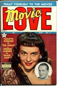 Movie Love #4 1950-Famous Funnies-Paulette Goddard cover-George Sanders-VF
