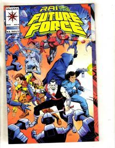 Lot Of 5 Rai & The Future Force # 1 Valiant Comic Books Magnus Bloodshot MR6