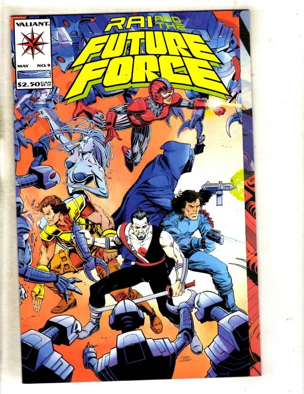 Lot Of 3 Rai & The Future Force # 1 Valiant Comic Books Magnus Bloodshot MR6