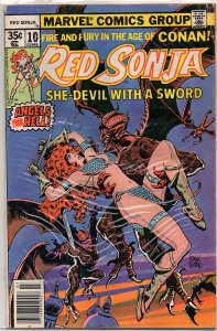 Marvel Comics Red Sonja #10 Frank Thorne Art Roy Thomas Story