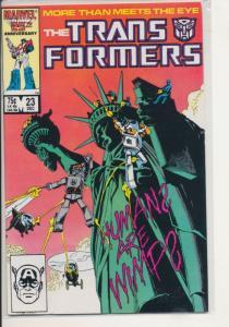 Marvel The Transformers #23 1986 VF (8.0) (450J)