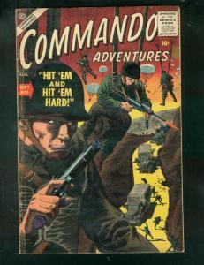COMMANDO ADVENTURES #2 1957-PARACHUTE COVER-SEVERIN-WAR-very good VG