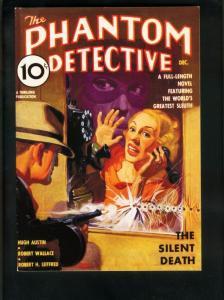 PHANTOM DETECTIVE DEC 1936 PULP REPRINT-SILENT DEATH-ADVENTURE HOUSE VF/NM