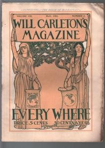 Will Carleton's Magazine 5/1901-American life over 100 years ago-VG