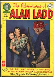 ADVENTURES OF ALAN LADD #3-PHOTO COVER-Golden Age VG