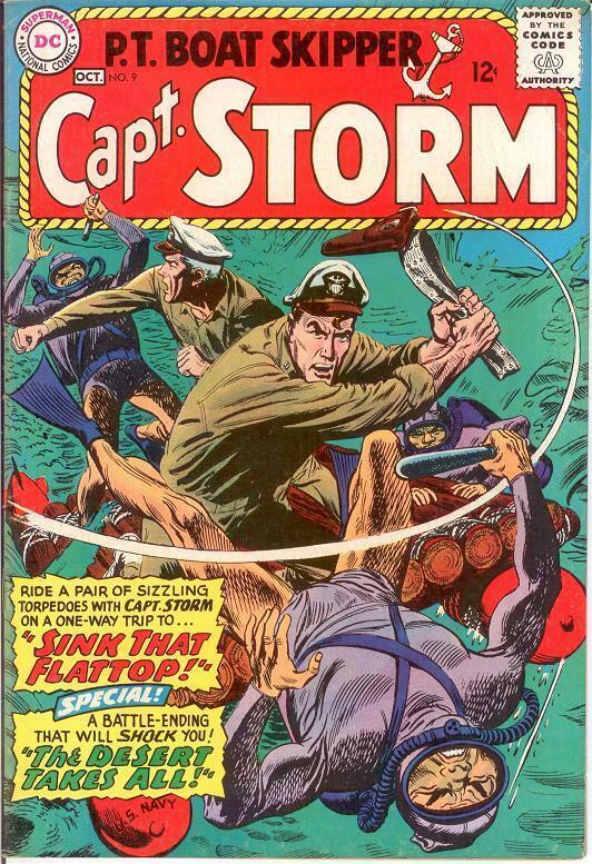 CAPTAIN STORM (1964-1967) 9 VF Oct. 1965 COMICS BOOK