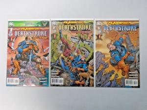 Flashpoint Deathstroke Curse of the Ravager set #1 to #3 - see pics - 8.0 - 2011
