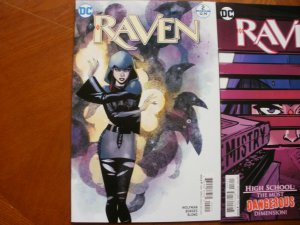 3 Near-Mint DC Comic RAVEN #2 #3 #6 (2016) Wolfman Borges Blond (White Carnival)