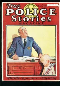 TRUE POLICE STORIES JAN 1926-VERY RARE CRIME PULP-THRILLS-ROMANCE- G-
