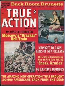 True Action 12/1965-Atlas-Rikki Chavel-Norem-Mort Kunstler-pulp-Hell Train-FN