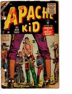 APACHE KID (1950-56 ATLAS)  17 POOR SEVERIN cover