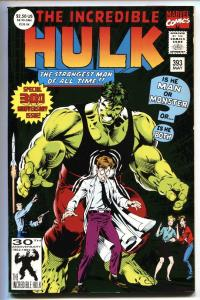 Incredible Hulk #393 Anniversary issue-comic book-Hulk #1 cover