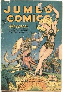 JUMBO #101-1947---SHEENA JUNGLE QUEEN---SKY GIRL BY MATT BAKER---SPICY