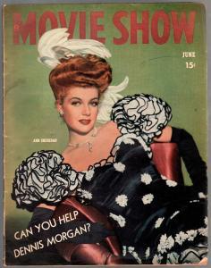 Movie Show 6/1944-Anne Sheridan-Bing Crosby-Roy Rogers-Deanna Durbin-G