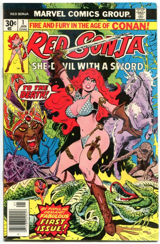 RED SONJA #1 2 3 4 5-14, VF- to NM-,Robert Howard, She-Devil Sword, Thorne, 1977