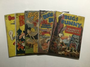 Bugs Bunny Dell Four Color 5 Issue Lot Run Set Very Good- To Very Good+ 3.5-4.5