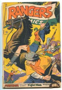 Rangers Comics #38 1947- hanging cover - Fiction House G/VG