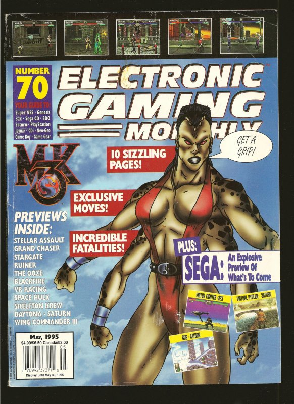Electronic Gaming Monthly Magazine #70 May 1995