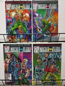NIGHT ZERO (1990 F/Q) 1-4 Bionic Cabbie vs Punk Knights COMICS BOOK