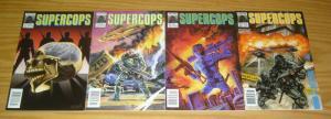 Supercops #1-4 VF/NM complete series - chuck dixon - all newsstand variants set