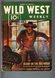 WILD WEST WEEKLY 8/17/1940-WESTERN PULP-HAL DUANE FN