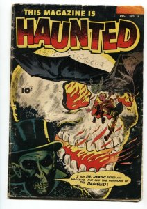 This Magazine Is Haunted #14 1953-Classic BURNING SKULL cover-PCH-incomplete