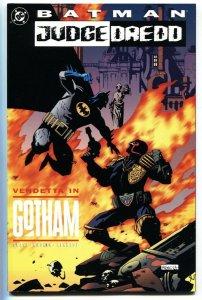 Batman/Judge Dredd: Vendetta in Gotham 1993 Mignola cover DC comic