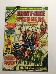 Giant-Size Avengers 1 Near Mint Nm Marvel