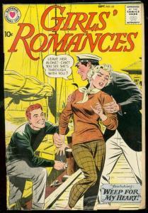 GIRLS ROMANCES #62 1959-DC COMICS-WEEP FOR MY HEART G