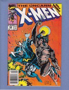 X-Men #258 Newsstand FN/VF Jim Lee Cover and Art