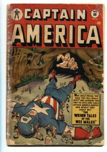 CAPTAIN AMERICA COMICS #69-1948 Sun Girl and Human Torch Timely Weird Tales