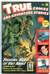 True Comics And Adventure Stories #1 HOUDINI PARACHUTES '65 VF