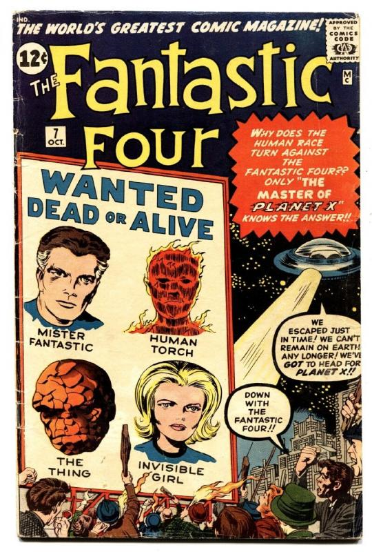 FANTASTIC FOUR #7-comic book MARVEL silver-age-JACK KIRBY ART / HipComic