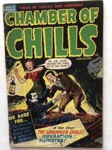 Chamber of Chills 5,VG, classic Vampire cover, Bttm staple pic!