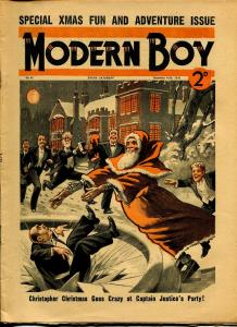 Modern Boy 12/10/1938-U.K. published-dime novel-Christmas cover-VG