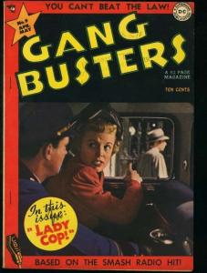 GANG BUSTERS #9-D.C. PRE-CODE CRIME COMIC-PHOTO CVR FN