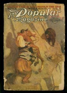 Popular Pulp Novemer 1 1912- NC Wyeth- Rare READING COPY