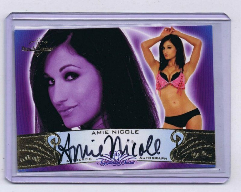 Dr. Amie Nicole Harwick 2010 Benchwarmers Certified Autograph Card #30A