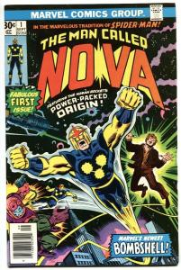 NOVA #1-MARVEL comic book BRONZE KEY-1976-1st issue VF-