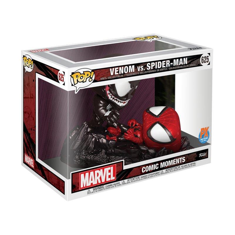POP COMIC MOMENT MARVEL SPIDER-MAN VS VENOM METALLIC PX FIGURE