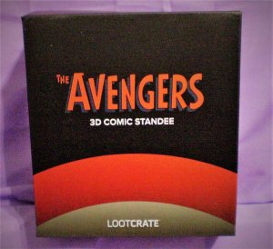 Loot Crate Exclusive Original AVENGERS 3D COMIC STANDEE (Loot Crate Original)!