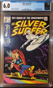 Silver Surfer #4 (Marvel 1969) Low Production Thor & Loki Appearance CGC 6.0 FN