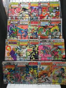 Micronauts (Marvel 1980-84) #21-59 Lot of 36Diff Michael Golden Kelley Jones ++