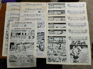Menomonee Halls Gazette Comics Paper Lot of 16 ~ 1970's Nice Condition!