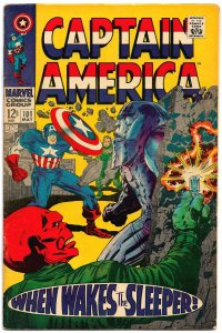 CAPTAIN AMERICA #101  2nd Issue of His Own Title!! (May1968) VG/FN Kirby Flair!