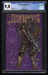Operation: Knightstrike #1 CGC NM/M 9.8 White Pages Variant Cover Rob Liefield!