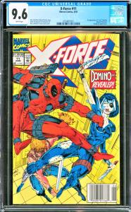 X-Force #11 CGC Graded 9.6 1st Appearance of real Domino