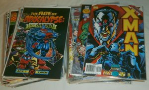 Age of Apocalypse X-Man #1-24 (missing #11) Generation Next comic book lot of 55
