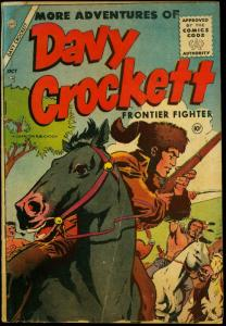 Davy Crockett Frontier Fighter #2 1955- Charlton Comics- Custer G