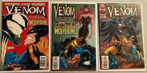 Venom tooth and claw set:#1-3 8.0 VF (1996)